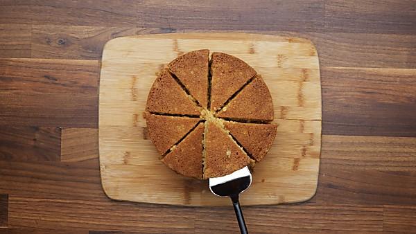 cornbread on cutting board