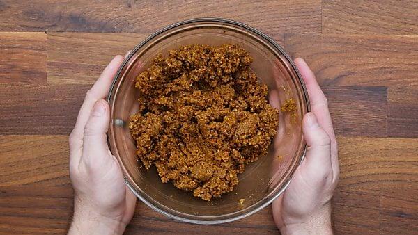 pie crust ingredients in mixing bowl