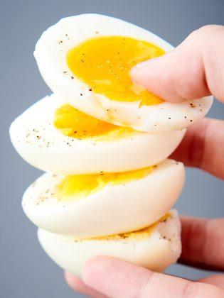 air fryer eggs held