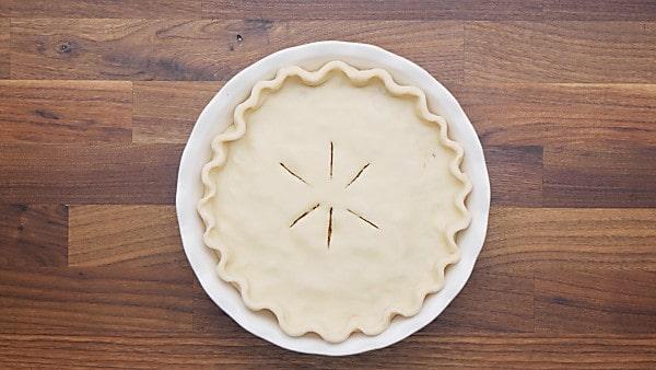 slits cut in top pie crust