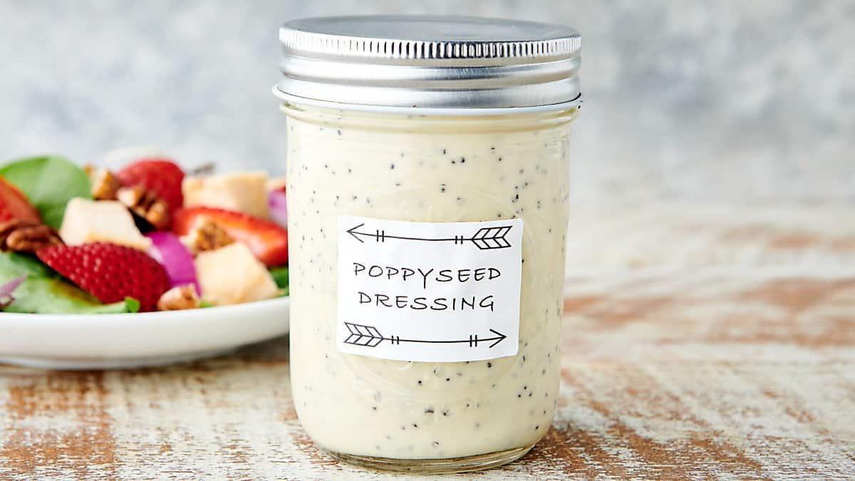 jar of poppyseed dressing