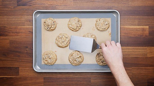 finished kitchen sink cookies on baking sheet