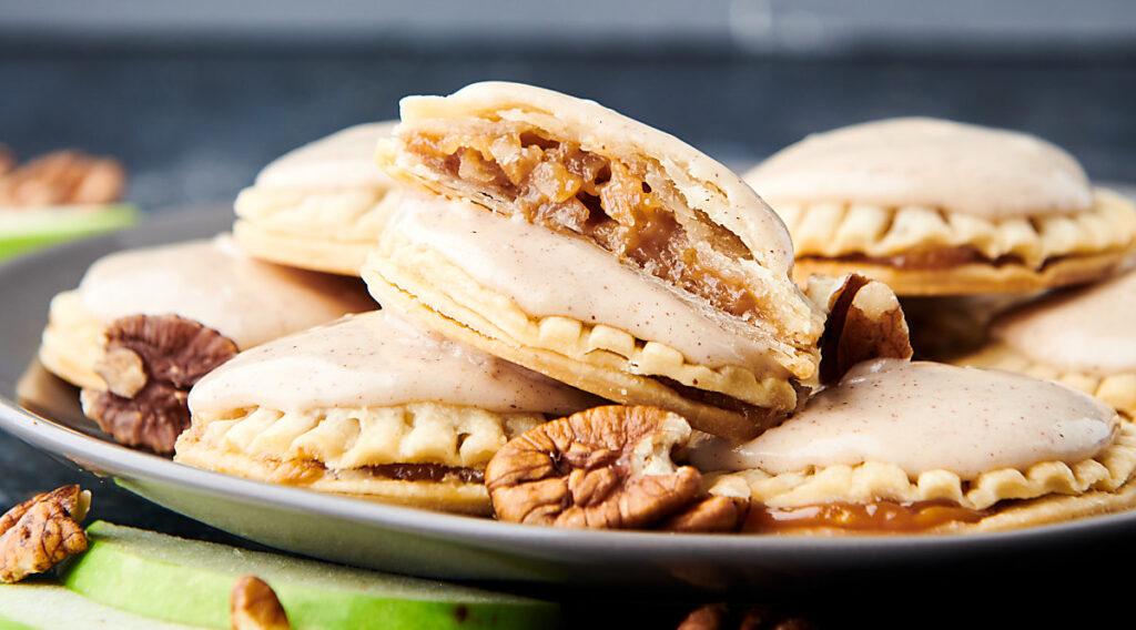 plate of apple pie cookies